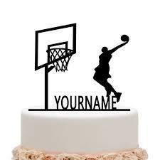 basketball cake toppers basketball cake topper personalized last name sports happy