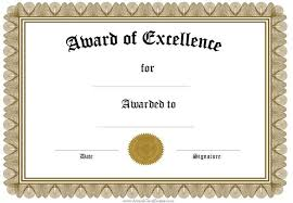 Free Certificate Of Excellence Template Printable Award Certificate Thebridgesummit Co