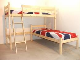 L SHAPED Ft Bunkbed Wooden LShaped Bunk Bed For Kids FAST - L shape bunk bed