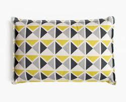 coussins deco coussin déco 1930 jaune gris noir middle century pattern