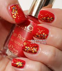 marias nail art and polish blog golden flowers on sun pearls