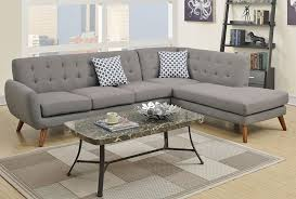 grey linen sectional couch