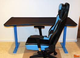 Good Desk Chair For Gaming by Arozzi Arena Gaming Desk Review Legit Reviews