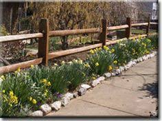 Fence Landscaping Ideas Landscaping Ideas With Split Rail Fence Pdf
