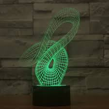 new design 3d lights abstract colored ribbon nightlights usb led