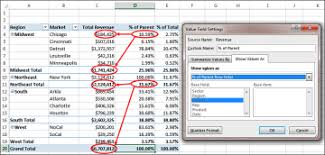 percentage calculator excel changing the calculation in a value field customizing an excel