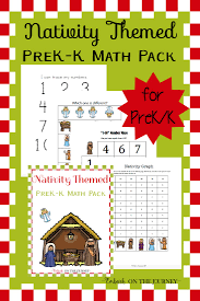 nativity printable math pack for preschool and kindergarten