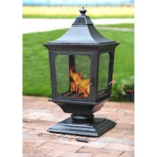 patio ideas built your own outdoor fireplace with the garden lamp