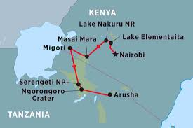 Eastern Africa Map by East Africa Discovery Kenya Tours Peregrine Adventures Au