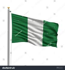 Nigerian Flag Flag Nigeria Flag Pole Waving Wind Stock Illustration 64830574