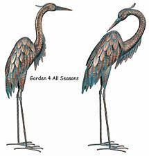 metal heron garden ornaments ebay