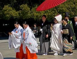 japanese shinto wedding ceremony editorial photography image