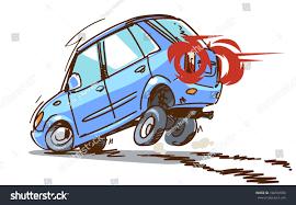 wrecked car clipart emergency braking cartoon car isolated on stock vector 746559958