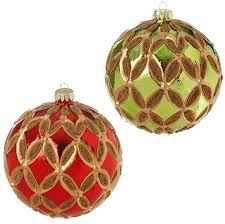 raz beaded ornaments 4 5 in set of 2 dd shelley b home and