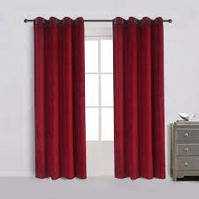 red velvet bentley amazon com cherry home set of 2 classic blackout velvet curtains