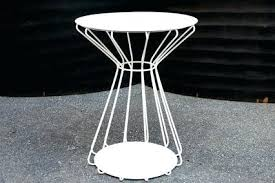 Patio Side Tables Metal Patio Side Table Metal Mesh Folding Metstransitstudy Info