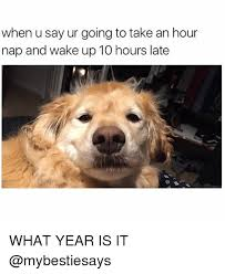 What Year Is It Meme - when u say ur going to take an hour nap and wake up 10 hours late