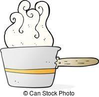 freehand cuisine dessin animé casserole dessiné vecteurs eps