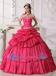 birthday dress appliqued ups hot pink sweet 15 16 birthday dress 2014