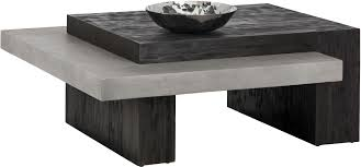brown square coffee table solterra zoron brown square coffee table from sunpan coleman furniture