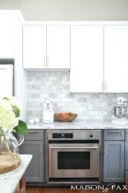 marble subway tile kitchen backsplash gray tile kitchen iammizgin com