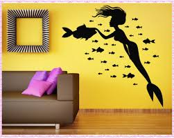 wonderful mermaid wall decals home decorations ideas image of mermaid wall decals info