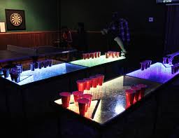 Beer Pong Table Size Infinity Glow L E D Beer Pong Table Gadget Flow