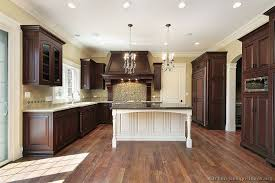 Traditional Dark WoodCherry Kitchen Cabinets KitchenDesign - Cherry cabinet kitchen designs