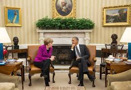 Oval Office Decor By President President Obama Hosts Chancellor Angela Merkel Of Germany