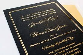 and black wedding invitations brian s gold foil and black wedding invitations