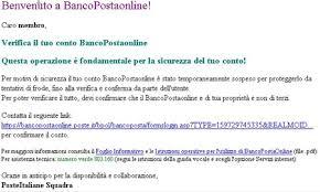 banco postaonline altra email frode bancopostaonline consulente informatico sergio