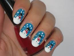 snowman nail art design youtube