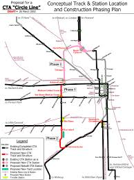 Chicago Trains Map by Chicago U0027 U0027l U0027 U0027 Org Transit Plans Circle Line Plan