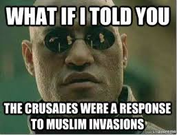 Muslim Man Meme - brilliant former marine dons knights templar costume to scare