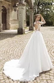 vestidos de noiva vintage organze lace backless wedding dress