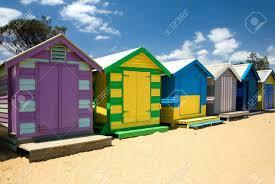 beach houses on brighton beach melbourne victoria australia