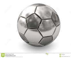 silver or platinum soccer on white royalty free stock photo