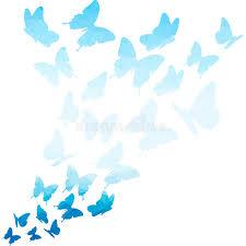 blue triangle butterflies swirl flying butterfly pattern