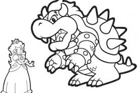 bowser free coloring pages art coloring pages