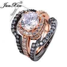 white zircon rings images Buy junxin 3pcs white zircon ring sets black jpg