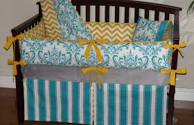 grey chevron bedding yellow gray chevron crib bedding grey and
