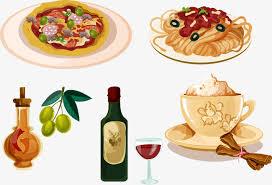 cuisine italienne pates la cuisine italienne en matière de pâtes de dessin vectoriel en