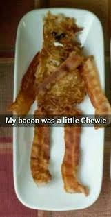 Bacon Memes - funny starwars chewing bacon meme