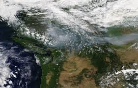 Wildfires In Bc July 2014 by Cliff Mass Weather And Climate Blog Smoky British Columbia And