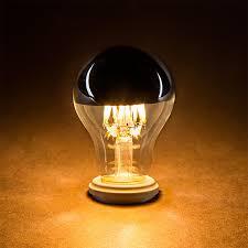 a19 led bulb silver tipped led filament bulb 50 watt