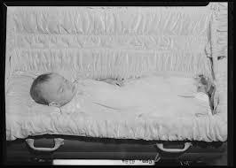 baby casket alma fields baby corpse open casket kentucky digital library