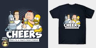 cartoon beer cheers cheers t shirt u2013 nemimakeit designs
