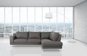 Right Sectional Sofa Casa Primrose Modern Grey Eco Leather Sectional Sofa W Right