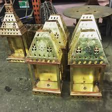 custom brass lanterns made in usa outdoor lights spanish style