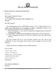 dlsu letterhead endorsement letter 1 7 inventory control and